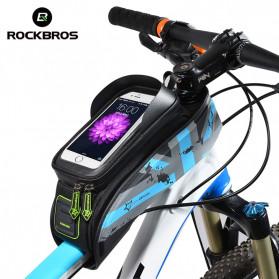 Rockbros Tas Barang Sepeda Smartphone Bag Touch Screen 6 Inch Waterproof - 021-1R - Red - 2