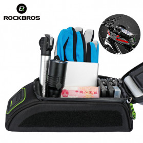 Rockbros Tas Barang Sepeda Smartphone Bag Touch Screen 6 Inch Waterproof - 021-1R - Red - 4
