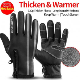 Rockbros Sarung Tangan Sepeda Full Finger Thermal Warm Touchscreen Size M - S091-2 - Black