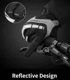 Rockbros Sarung Tangan Sepeda Full Finger Thermal Warm Touchscreen Size L - S091-2 - Black - 6