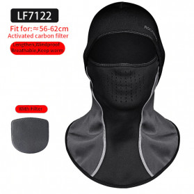 ROCKBROS Masker Motor Sepeda Full Face Ala Ninja Cycling Cap Thermal Warm - LF7122 - Black