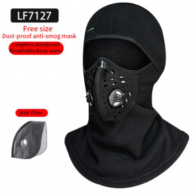 ROCKBROS Masker Motor Sepeda Full Face Ala Ninja Cycling Cap Thermal Warm - LF7127 - Black