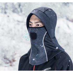 ROCKBROS Masker Motor Sepeda Full Face Ala Ninja Cycling Cap Thermal Warm - LF7127 - Black - 9