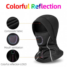 ROCKBROS Masker Motor Sepeda Full Face Ala Ninja Cycling Cap Thermal Warm - LF7127-1 - Black - 3