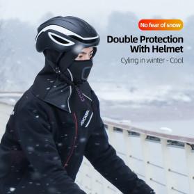 ROCKBROS Masker Motor Sepeda Full Face Ala Ninja Cycling Cap Thermal Warm - LF7196-S - Black - 2