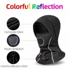 ROCKBROS Masker Motor Sepeda Full Face Ala Ninja Cycling Cap Thermal Warm - LF7196-S - Black - 3