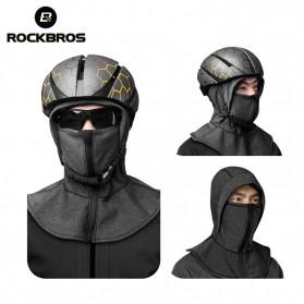 ROCKBROS Masker Motor Sepeda Full Face Ala Ninja Cycling Cap Thermal Warm - LF7196-S - Black - 5