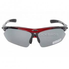 ROCKBROS Kacamata Sepeda Olahraga Polarized dengan 3 Lensa - 10037 - Gray - 2