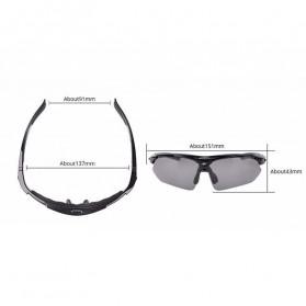 ROCKBROS Kacamata Sepeda Olahraga Polarized dengan 3 Lensa - 10037 - Gray - 3