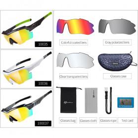 ROCKBROS Kacamata Sepeda Olahraga Polarized dengan 3 Lensa - 10037 - Gray - 4