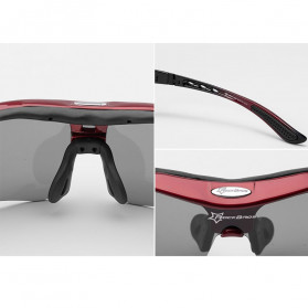 ROCKBROS Kacamata Sepeda Olahraga Polarized dengan 3 Lensa - 10037 - Gray - 6