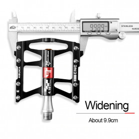Rockbros Pedal Sepeda Anti-slip Ultralight MTB Mountain Aluminium Alloy - JT410 - Black - 3