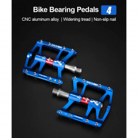 Rockbros Pedal Sepeda Anti-slip Ultralight MTB Mountain Aluminium Alloy - JT410 - Black - 7