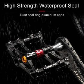 Rockbros Pedal Sepeda Anti-slip Ultralight MTB Mountain Aluminium Alloy - JT410 - Black - 8