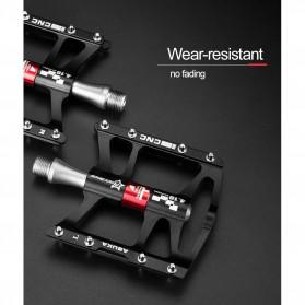 Rockbros Pedal Sepeda Anti-slip Ultralight MTB Mountain Aluminium Alloy - JT410 - Black - 9