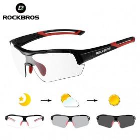 ROCKBROS Kacamata Sepeda Olahraga Lensa Photochromic - 10111 - Black/Red