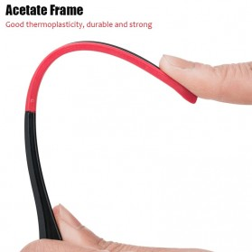 ROCKBROS Kacamata Sepeda Olahraga Lensa Photochromic Full Frame 10161 - Black/Red - 8