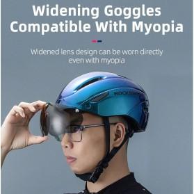 Rockbros Helm Sepeda Cycling Bike Helmet with Visor - TT-16-CP - Black/Purple - 2
