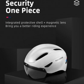 Rockbros Helm Sepeda Cycling Bike Helmet with Visor - TT-16-CP - Black/Purple - 4