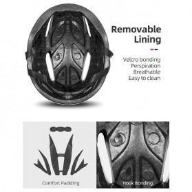 Rockbros Helm Sepeda Cycling Bike Helmet with Visor - TT-16-CP - Black/Purple - 5