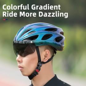 Rockbros Helm Sepeda Cycling Bike Helmet with Visor - TT-16-CP - Black/Purple - 6
