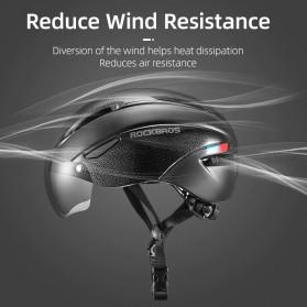 Rockbros Helm Sepeda Cycling Bike Helmet with Visor - TT-16-CP - Black/Purple - 7