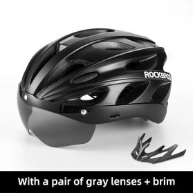 Rockbros Helm Sepeda Cycling Bike Helmet + Visor - TT-16-CP - Black