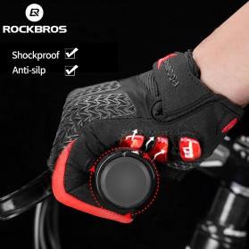 Rockbros Sarung Tangan Sepeda Full Finger Touchscreen Windproof Size XL - S208 - Black - 4
