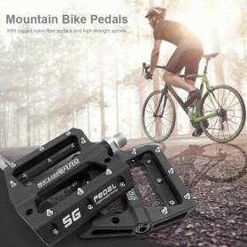 SCUDGOOD Pedal Sepeda MTB Mountain Bike Ultralight Nylon Fiber - SG-1512B - Black - 2