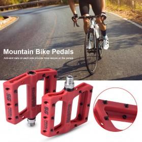 SCUDGOOD Pedal Sepeda MTB Mountain Bike Ultralight Nylon Fiber - SG-1512B - Black - 3