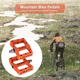 SCUDGOOD Pedal Sepeda MTB Mountain Bike Ultralight Nylon Fiber - SG-1512B - Black - 4
