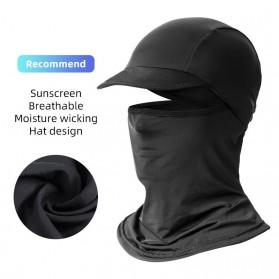 ROCKBROS Masker Topi Sepeda Full Face Cycling Cap Anti UV Hat - LF7357 - Black