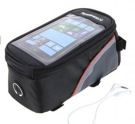 Roswheel Tas Sepeda Waterproof untuk 5.5 inch Smartphone - 12496 - Black - 2
