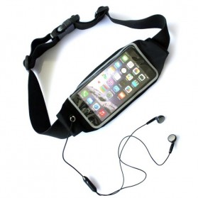 Waterproof Sports Belt with Touchscreen for Smartphone 4.7 Inch - ZE-WP400 - Black