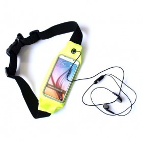 Waterproof Sports Belt with Touchscreen for Smartphone 5.5 Inch - ZE-WP400 - Green
