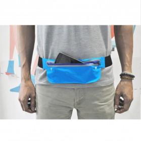 Waterproof Sports Belt with Flat Pocket - ZE-WP300 - Blue