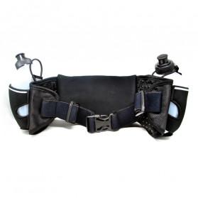 Neoprene Hydration Sports Running Belt with 2 Bottle - ZE-HBW - Black/Black - 2