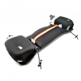 Neoprene Hydration Sports Running Belt with 2 Bottle - ZE-HBW - Black/Black - 3