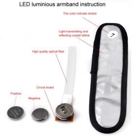 LED Warning Strap Arm Band - Green - 7