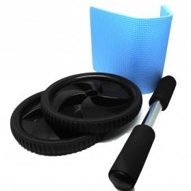 Alat Fitness Double Wheel Roller - Black - 4