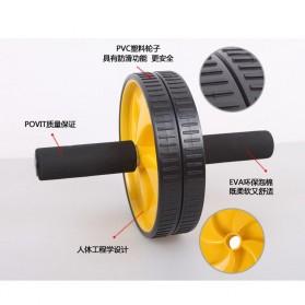 Alat Fitness Double Wheel Roller - Black - 5