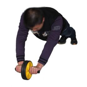 Alat Fitness Double Wheel Roller - Black - 7