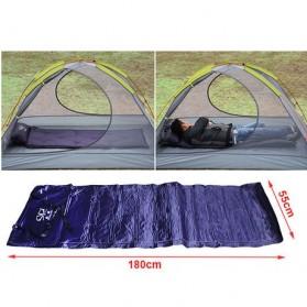 Foldable Inflatable Sleeping Mattress Bag - Purple
