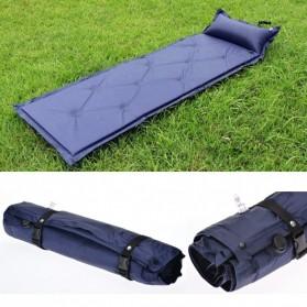 Foldable Inflatable Sleeping Mattress Bag - Purple - 4