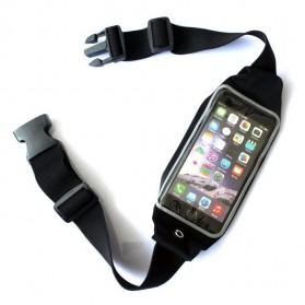 Tali Ikat Pinggang Olahraga Waterproof + Slot Smartphone 5.5 Inch - 150806 - Black - 2