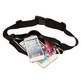 Tali Ikat Pinggang Olahraga Waterproof + Slot Smartphone 5.5 Inch - 150806 - Black - 5