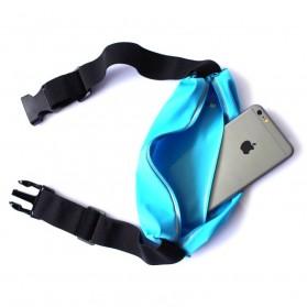Tali Ikat Pinggang Olahraga Waterproof dengan Slot Smartphone 5.5 Inch - Blue - 2