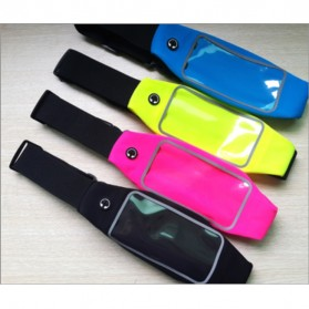 Ikat Pinggang Olahraga Waterproof dengan Slot Smartphone 5.5 Inch - Blue - 5
