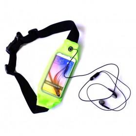 Tali Ikat Pinggang Olahraga Waterproof dengan Slot Smartphone 5.5 Inch - Green