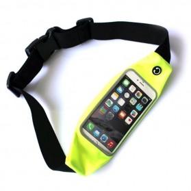 Tali Ikat Pinggang Olahraga Waterproof + Slot Smartphone 5.5 Inch - 150806 - Green - 2